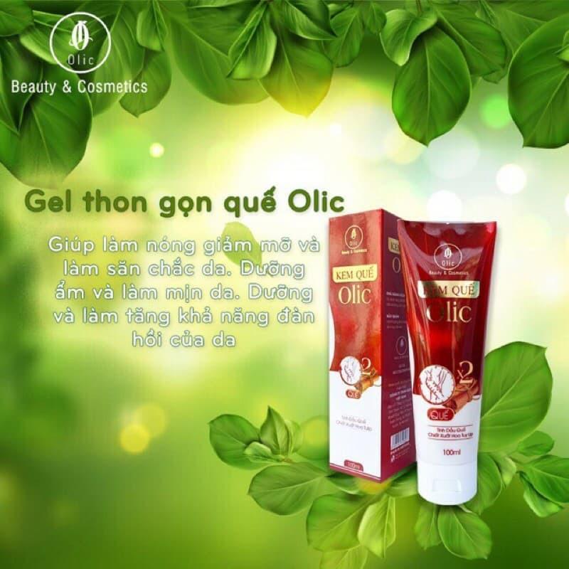 Gel tan mỡ Olic (gel kem quế olic)