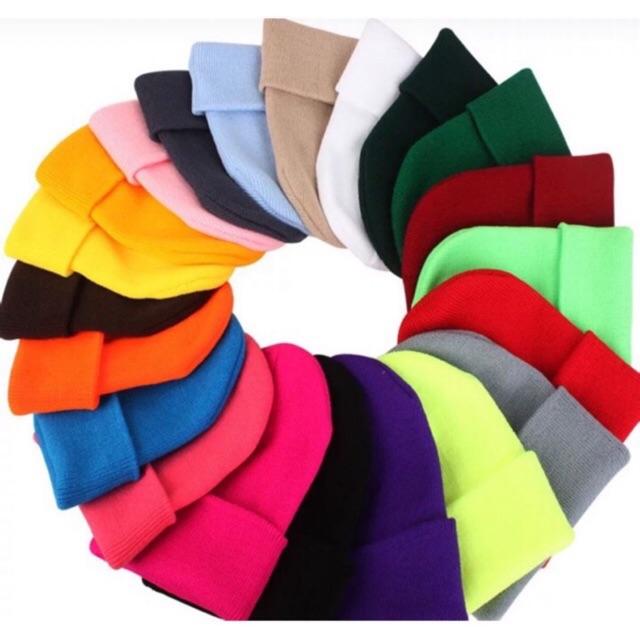 Mũ Len Màu Trơn Bianie Hàn Quốc Nhiều Màu Cho Nam/Nữ