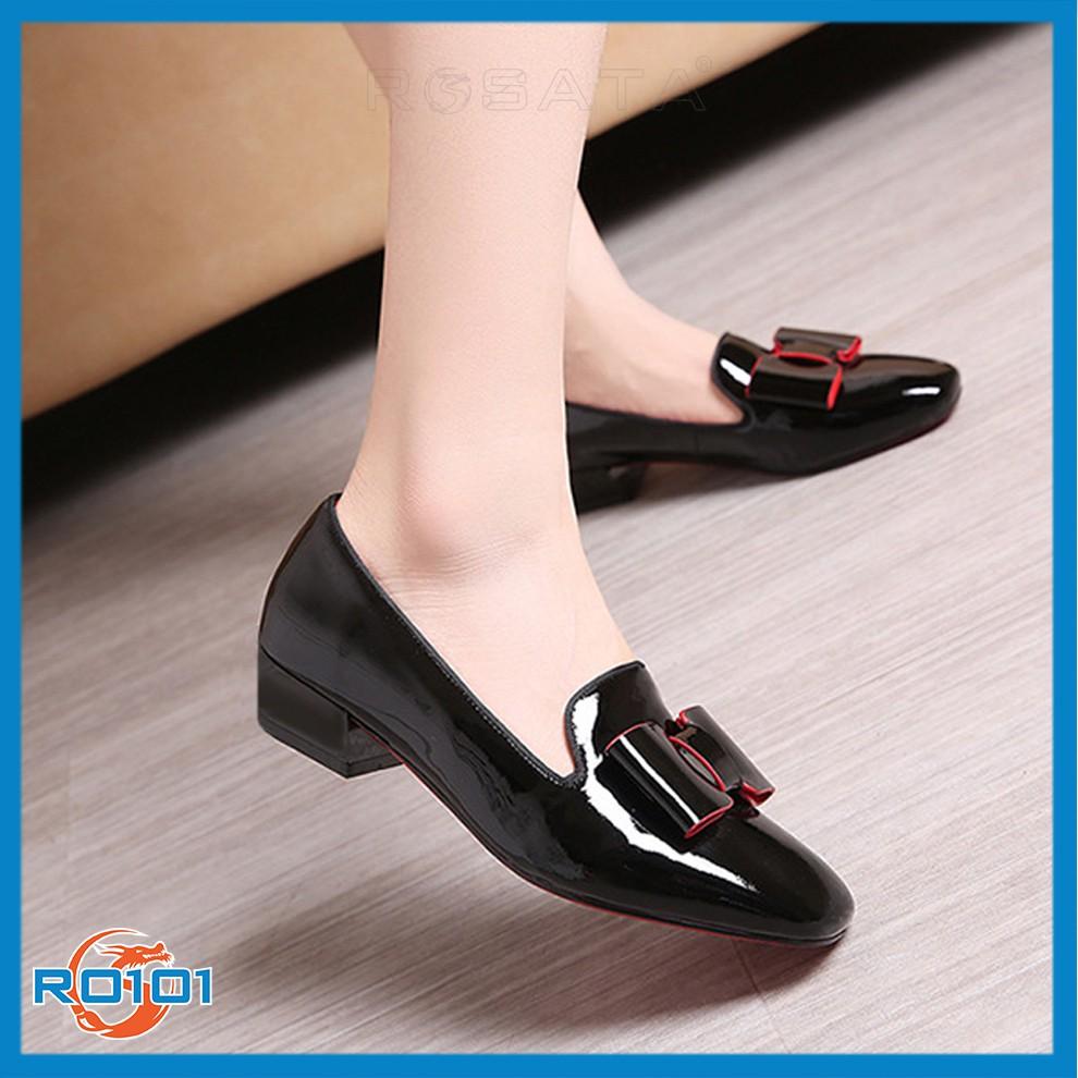 Giày búp bê nữ đẹp Rosata thời trang RO101