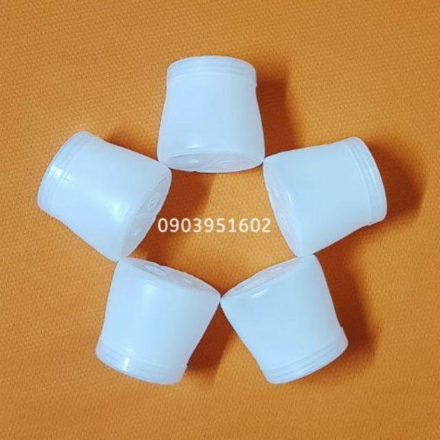 [Ảnh Thật] Lốc 5 Hủ Nhựa 120ml đựng Sữa Chua Nếp Cẩm Kèm Nắp