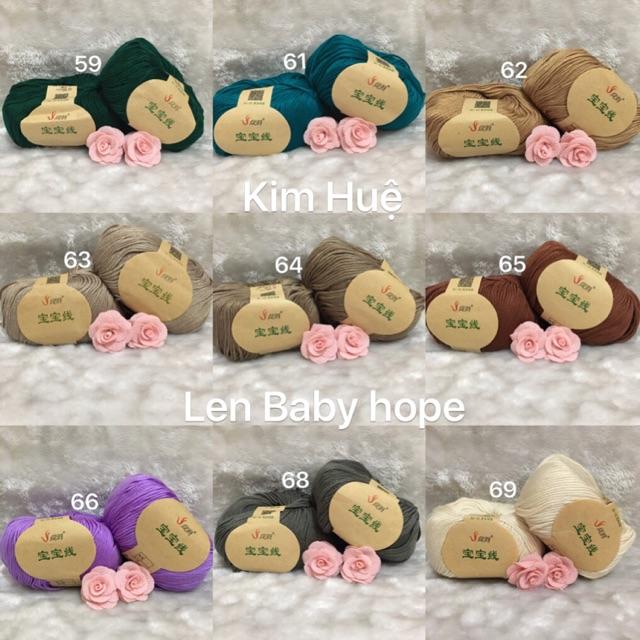 Combo len baby hope và phụ kiện hoa diep - 3176545 , 1337579455 , 322_1337579455 , 200000 , Combo-len-baby-hope-va-phu-kien-hoa-diep-322_1337579455 , shopee.vn , Combo len baby hope và phụ kiện hoa diep