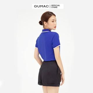 Hình ảnh Áo thun polo nữ, xẻ lai GUMAC đủ màu đủ size, thiết kế basic ATB109-5