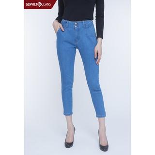 Quần dài jeans nữ DQ107J766 GENVIET thumbnail