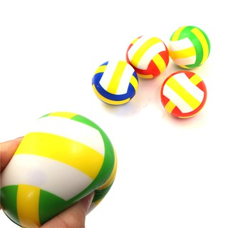 {MUV} 1PC Stress Relief Vent Ball Mini Volleyball Squeeze Foam Ball Kids Outdoor Toy{LJ}