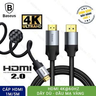 Cáp HDMI 2.0 4K 60HZ Baseus Hình Ảnh Sắc Nét Hàng Chính Hãng