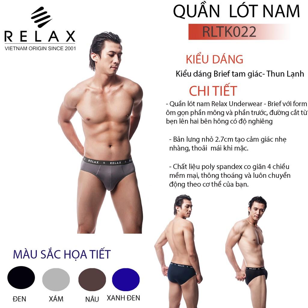 Quần lót Nam Thun Lạnh Relax RLTK022 , Quần Sịp Nam Co Dãn 4 Chiều
