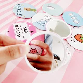 Gương tròn mini, gương cầm tay nhiều hình dễ thương thumbnail
