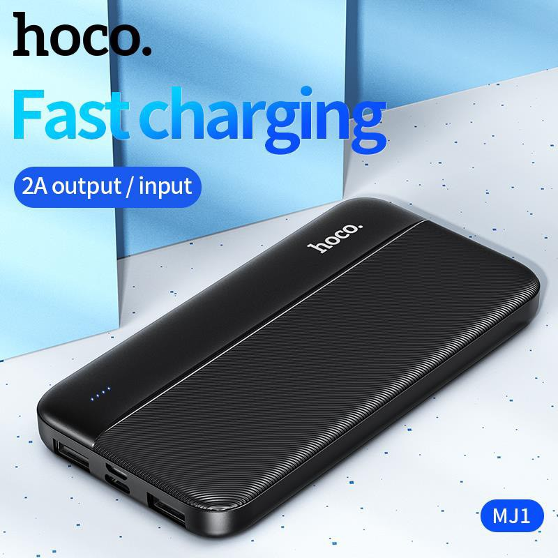 Pin sạc dự phòng Hoco MJ1 Fast energy 10000mAh 2 cổng Input/Output max 2A - Hãng phân phối chính thức