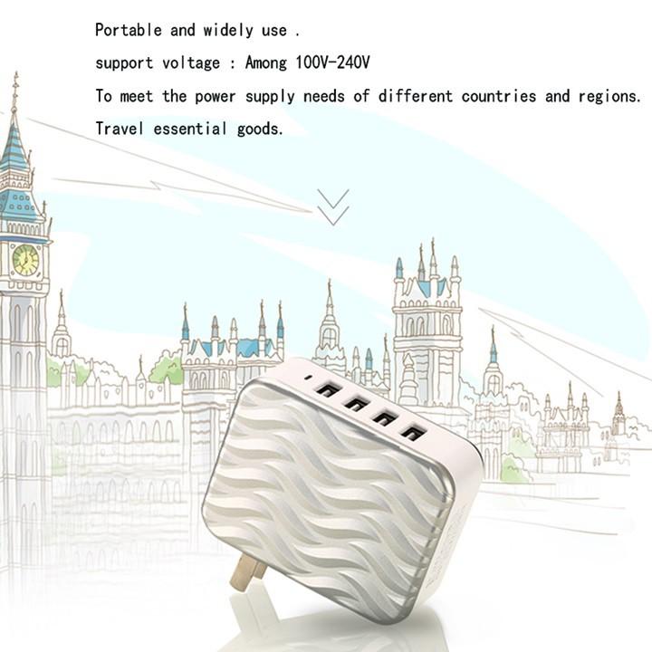 Củ sạc Remax Wave RP-U41 4 cổng USB