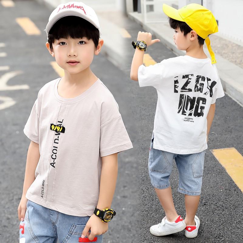 bộ áo thun+quần jeans cho bé trai