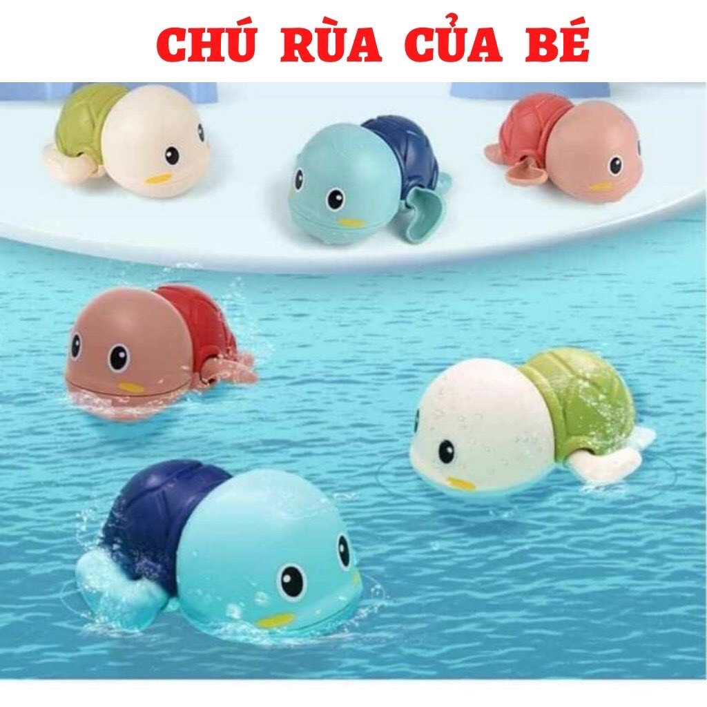 Rùa bơi đồ chơi thả bồn nhà tắm cho bé