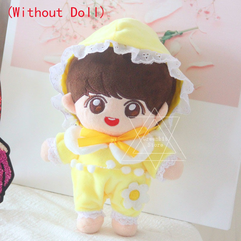 20CM Ready Stock  BTS EXO Doll Baby Cat Shoes Overalls Plush Toy Clothes Soft Doll Accessories