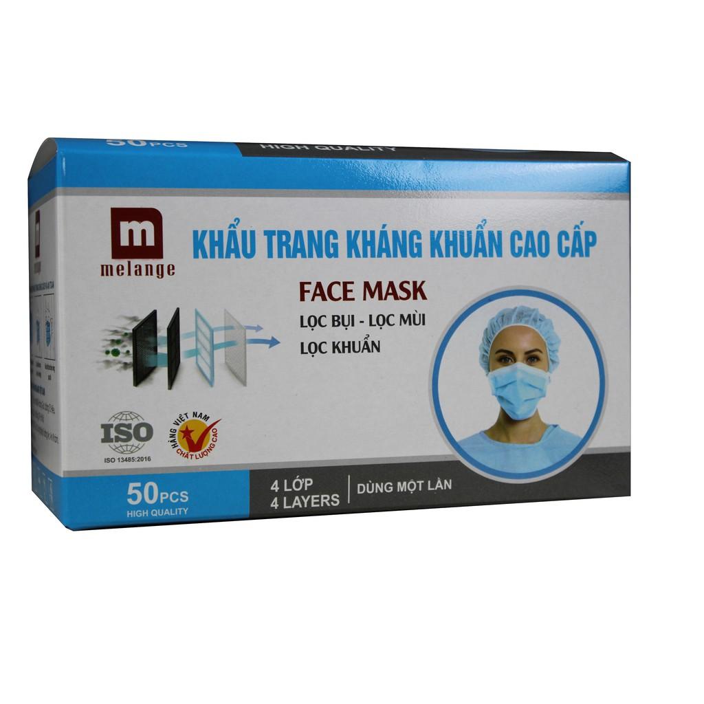 Khẩu trang kháng khuẩn Melange ( Hộp 50 cái)