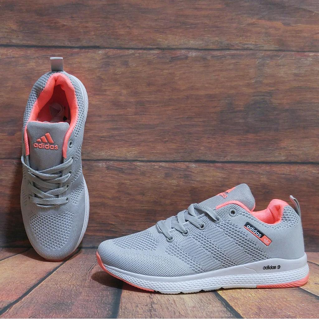 Giày Thể Thao Nữ Adidas Ghi Cam Cực Hot