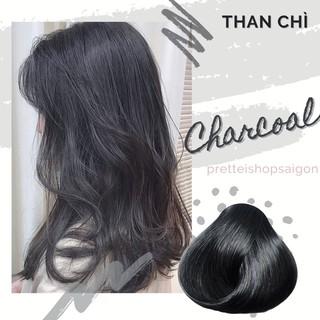 [kèm Trợ Nhuộm Ủ tóc] Kem nhuộm tóc màu THAN CHÌ-Không Tẩy