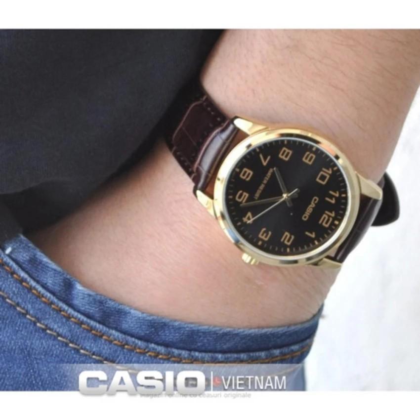 Đồng hồ nam dây da Casio chính hãng Anh Khuê MTP-V001GL-1BUDF