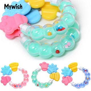 1Pc Lovely Kids Infant Teether Rattles Safety Tooth Care