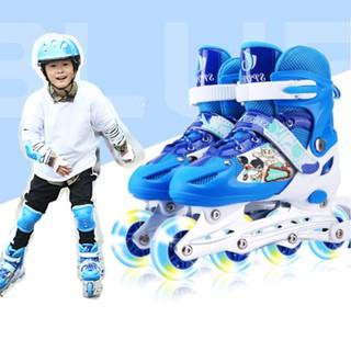 Giày Patin Trẻ Em, 2 Bánh Trước Có Đèn Flash Sports, Tặng Kèm Phụ Kiện 8 Món