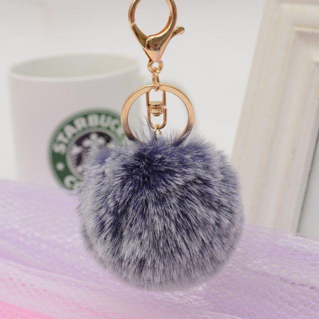 Móc khóa cục lông phụ kiện trang trí balo- túi xách, cặp đôi, quà tặng