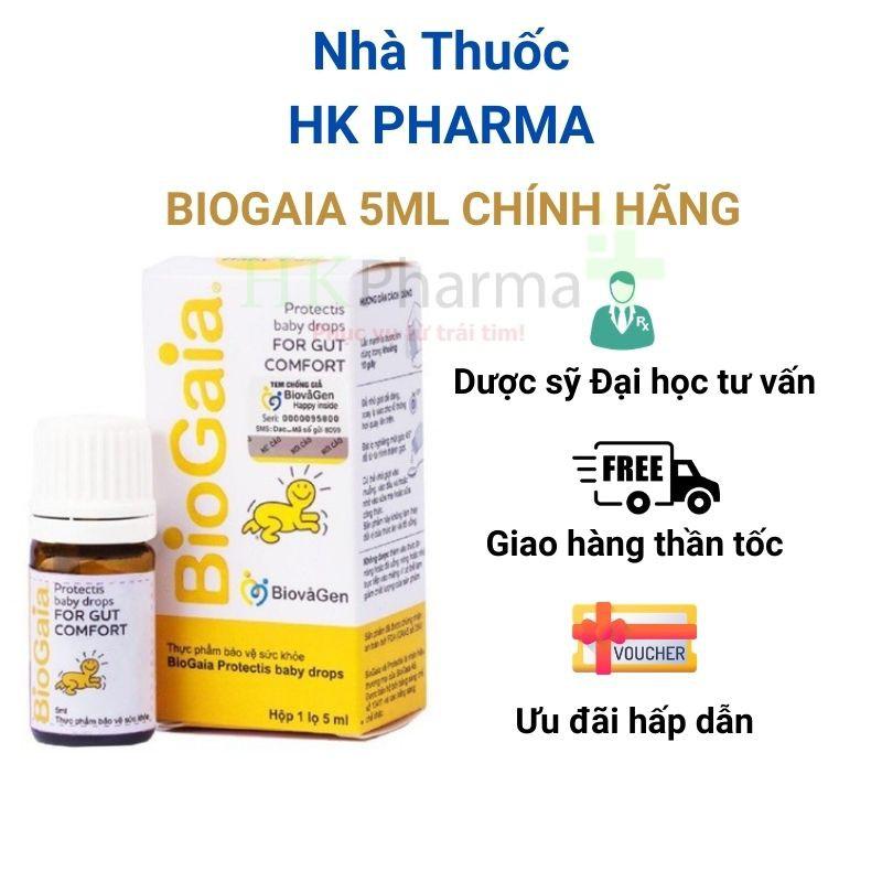 [TẶNG VOUCHER] Men vi sinh cho trẻ sơ sinh Biogaia Protectis Drops 5ml