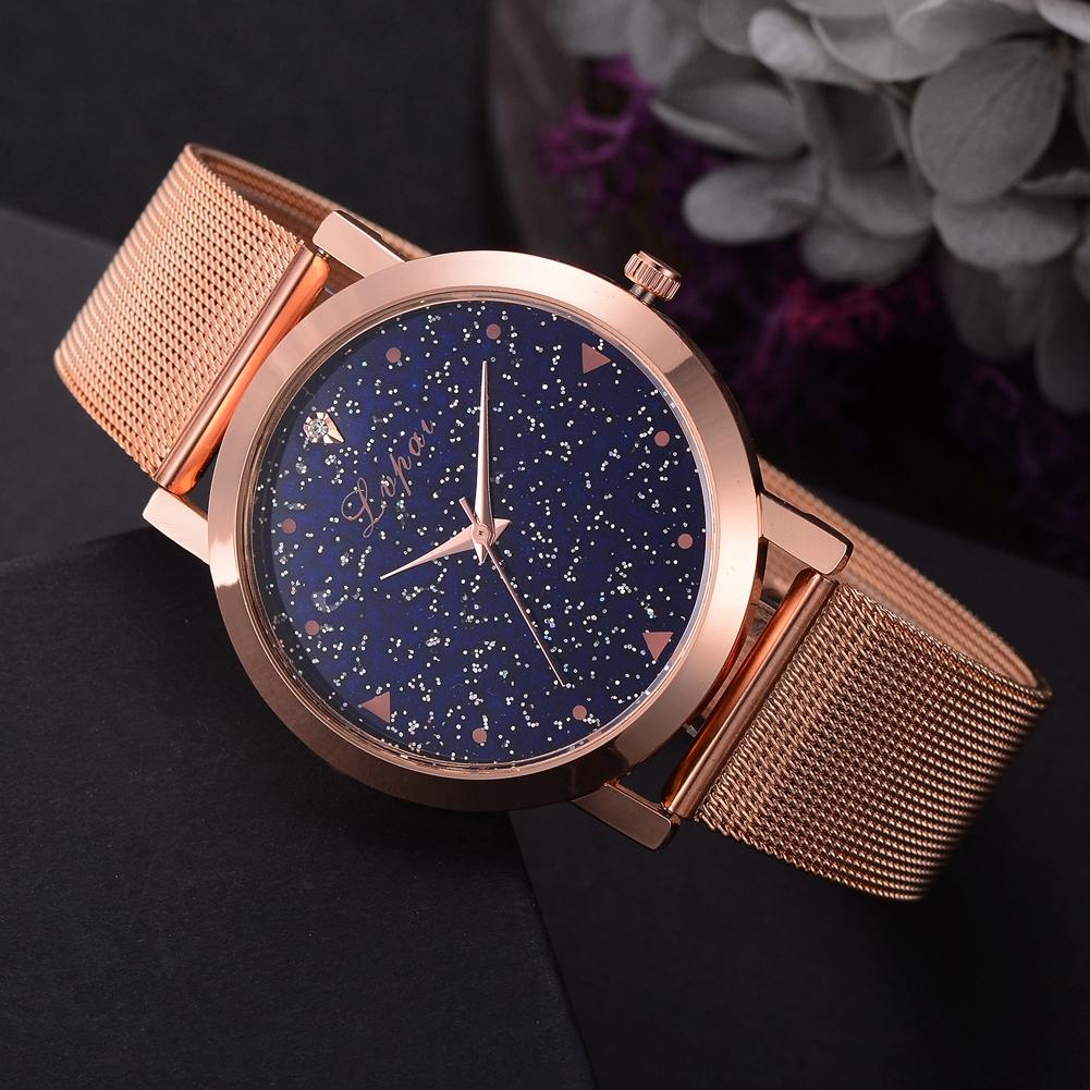 Analog Mesh Clock Casual Watch Wrist Ladies Women Quartz