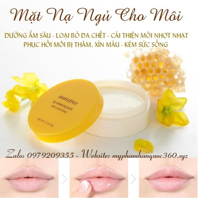 Mặt Nạ Ngủ Cho Môi Chiết Xuất Từ Mật Ong & Tinh Dầu Cải - Innisfree Lip Sleeping Pack With Canola Ho