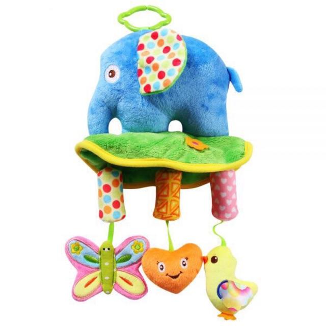 Bộ đồ chơi treo nôi hình con voi (chất liệu an toàn cho bé)