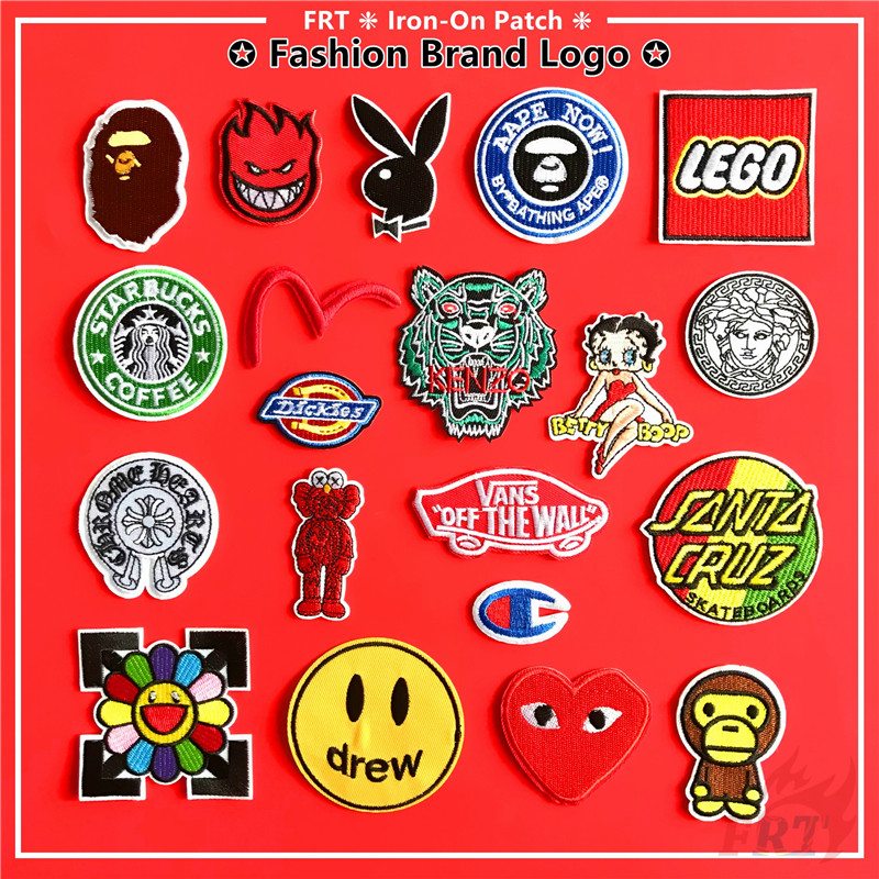 ☸ Fashion Brand Logo Crossover Iron-On Patch(20 Styles) ☸ 1Pc DIY Sew on Iron on Badges Patches(FBL-M008)