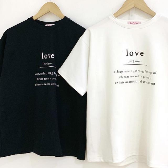 Áo Love đen