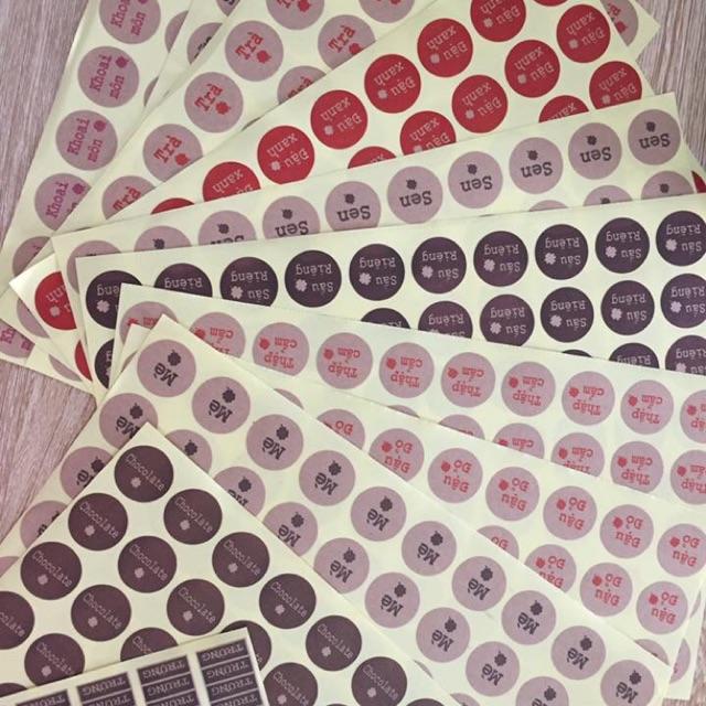 Set 5 tờ tem nhân ( khách lấy loại nào ib or note cho shop)