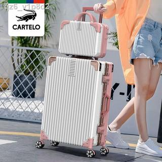 [bán chạy]Kadile cá sấu lưới hành lý nữ màu đỏ Xe đẩy du lịch mới nam 20 khẩu vali có sức chứa lớn, mạnh mẽ và bền thumbnail