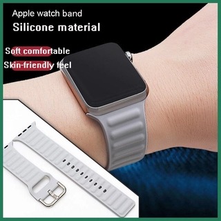 Dây Đeo Silicon Cho Đồng Hồ Thông Minh Apple Watch 44mm 40mm 38mm 42mm Iwatch Series 5 6 Se 4 3 2 1