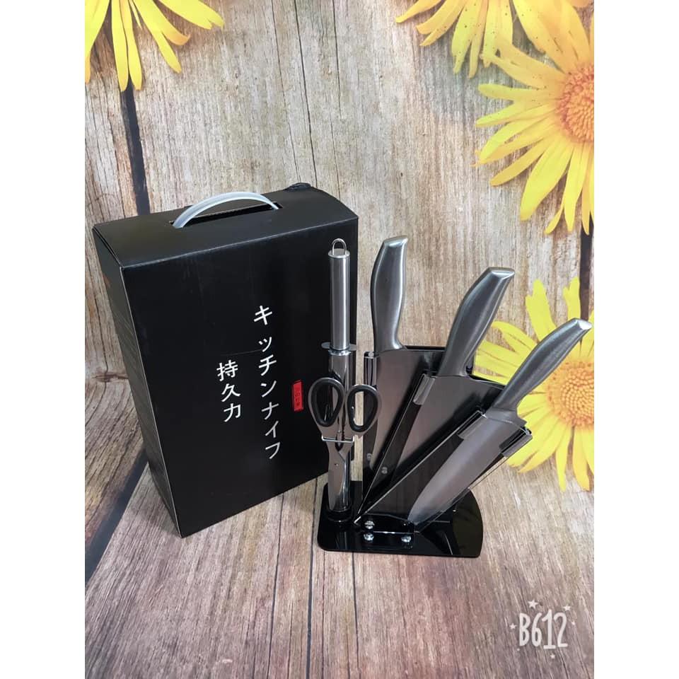 Bộ dao Nhật inox 6 món tiện dụng lại cực sang cho căn bếp của bạn [Mua ngay quà tới liền tay] - 14688448 , 2255690824 , 322_2255690824 , 325000 , Bo-dao-Nhat-inox-6-mon-tien-dung-lai-cuc-sang-cho-can-bep-cua-ban-Mua-ngay-qua-toi-lien-tay-322_2255690824 , shopee.vn , Bộ dao Nhật inox 6 món tiện dụng lại cực sang cho căn bếp của bạn [Mua ngay quà