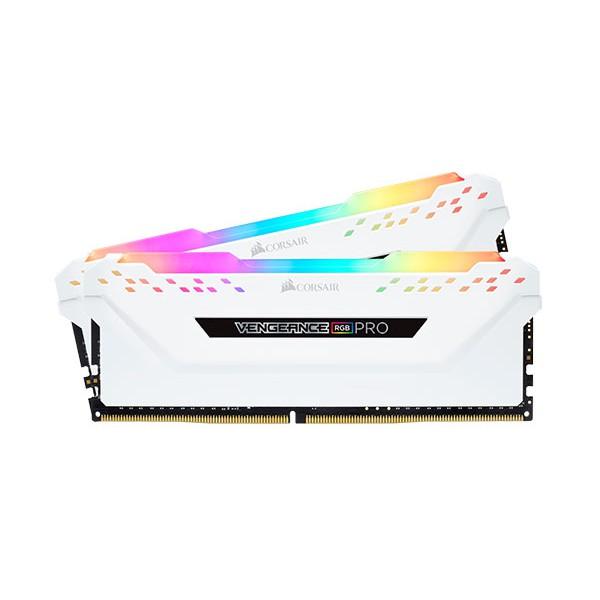 Ram Corsair 16GB (2 x 8GB) C15 Bus 3000Mhz - CMW16GX4M2C3000C15W - White