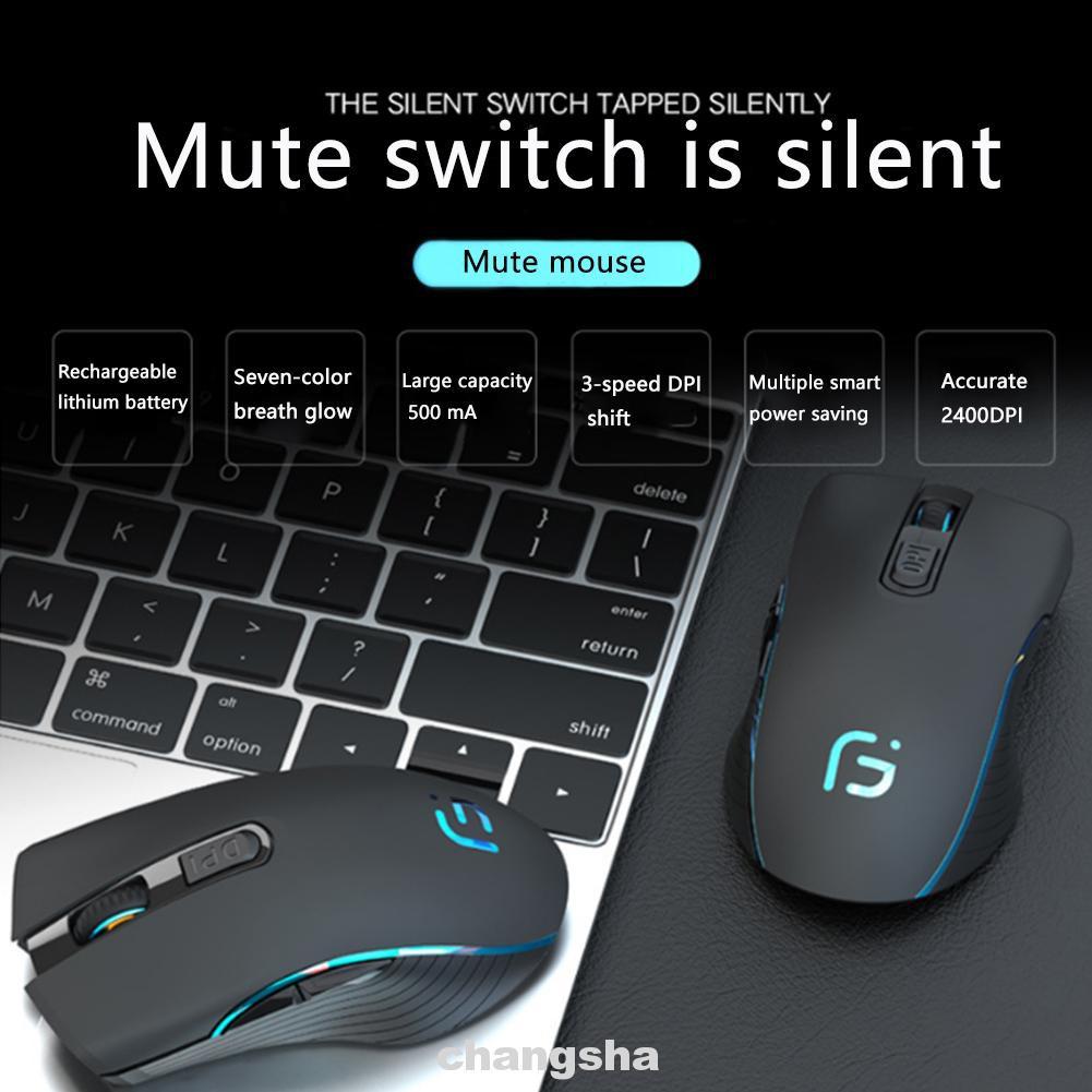 Chuột Không Dây 6 Nút 2.4g