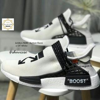 new product 21a12 0844e (ẢNH CHI TIẾT) giày thể thao NMD HUMAN RACE OFF WHITE trắng đế trắng