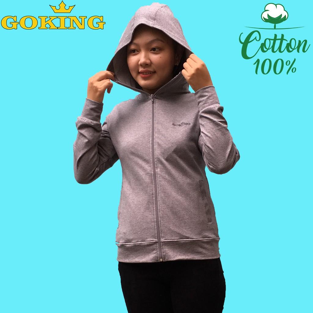 Áo khoác nữ GOKING, vải da cá dày chống nắng hiệu quả, 6 túi tiện dụng, chống tia UV hiệu quả. Hàng hiệu cao cấp