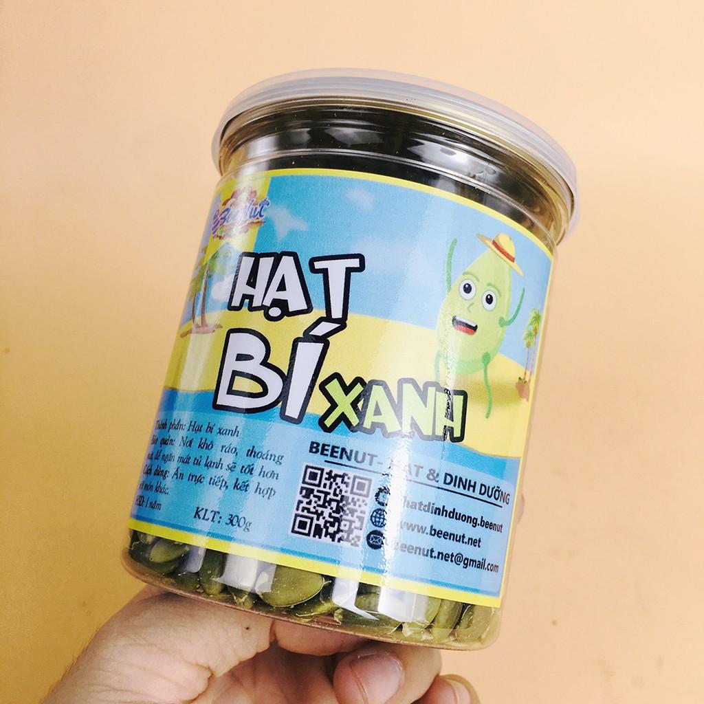 (Hũ 300g) Hạt bí xanh (Ấn Độ) - Hạt bí rang sấy thơm bùi, đã tách vỏ - BeeNut