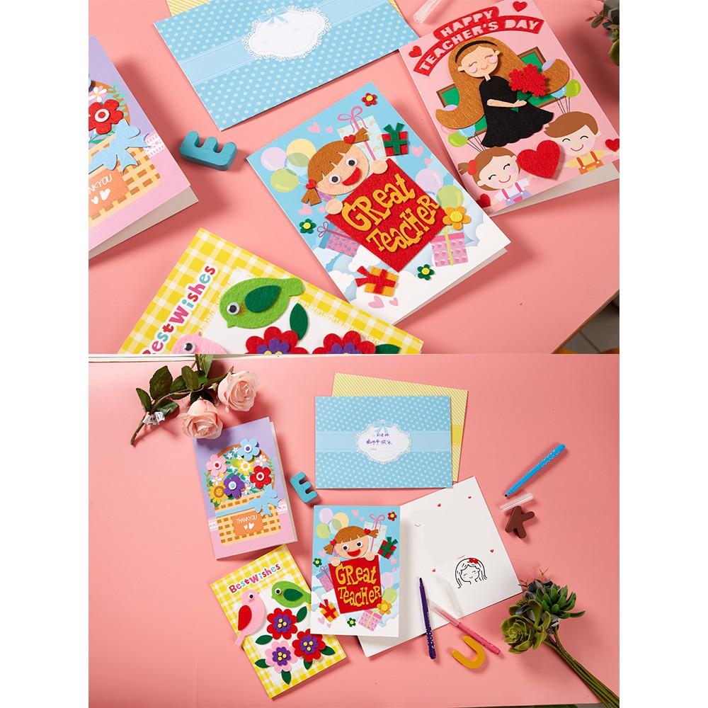 Đồ chơi thủ công / Montessori - Bộ kit làm thiệp handmade DIY nhân ngày nhà giáo, sinh nhật, thiệp...