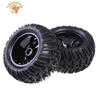 ✿BP✿New Wheel Rim & Tires For HSP 1:10 Monster Truck RC Car 12mm Hub 4PCS