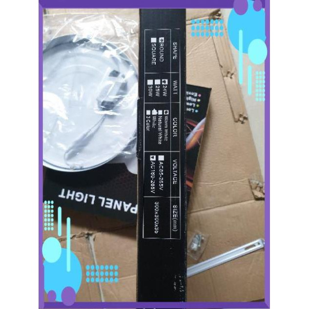 Đèn led ốp trần 24w siêu sáng Tròn - Vuông [ ốp nổi ]