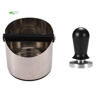 COD – Stainless Coffee Tamper Knock Box Deep Bent Design Coffee Slag & 51mm Calibrated Pressure Espresso Tamper Tool