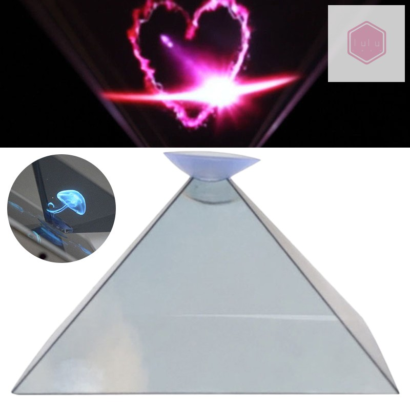 3D Hologram Pyramid Display Projector Video Stand Universal For Smart Mobile Phone