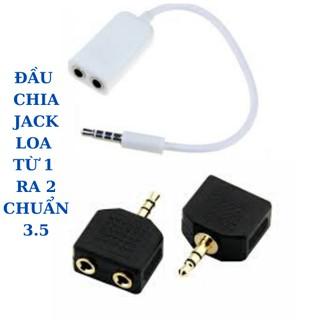 Đầu chia tai nghe 1 sang 2 jack cắm 3.5mm cho Apple iPhone 4 5 5s 6 6S 7 plus iPad iPod laptop MP3
