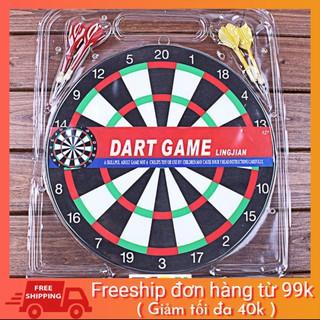 [SALE KHAI TRƯƠNG] Bộ đồ chơi bảng phi tiêu Dart Board 2 mặt cao cấp