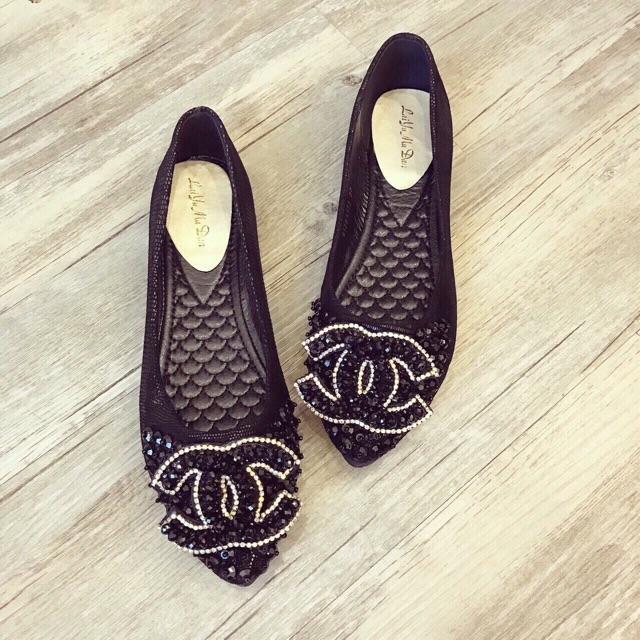 Giày bệt đính đá cao cấp