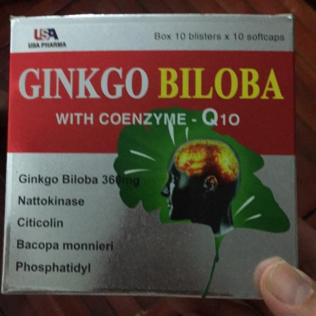 Ginkgo biloba with coenzyme-Q10