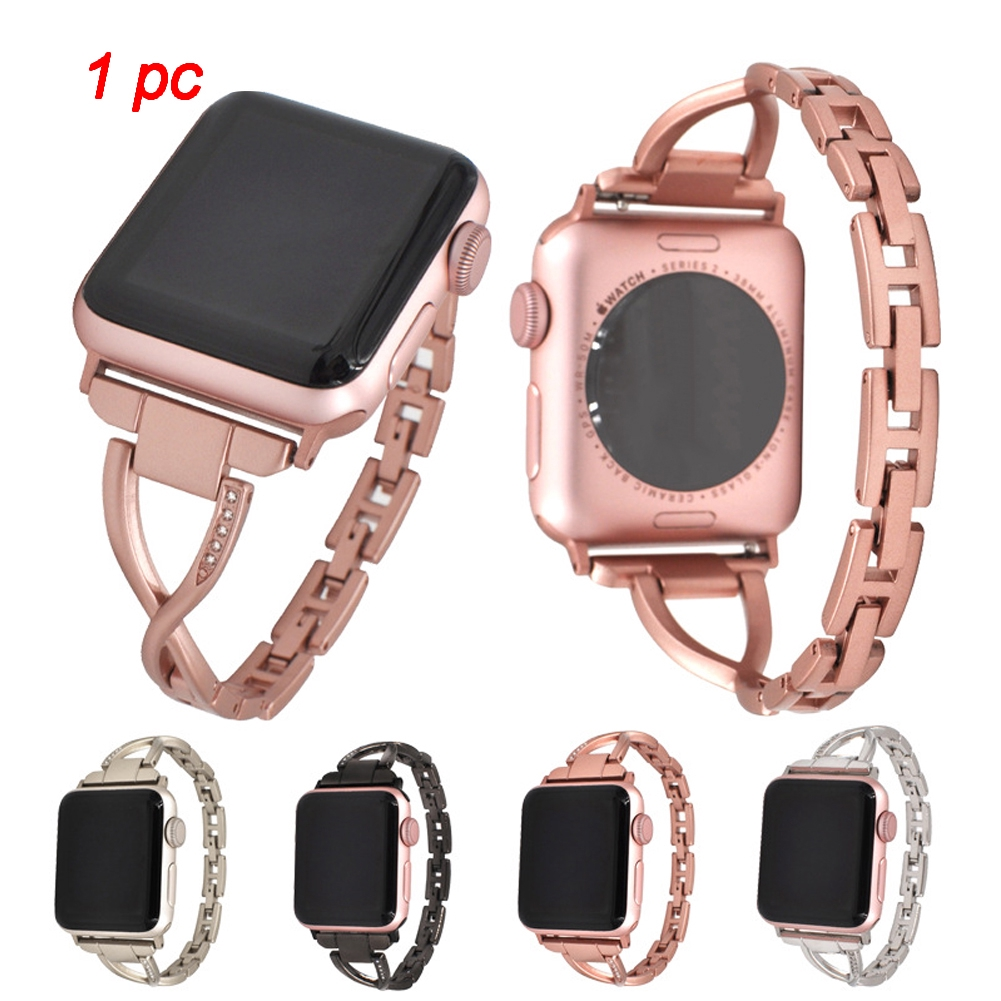 Watch Strap Luxury Solid Accessories Diamond Fashion Replacement Gift Durable For IWatch