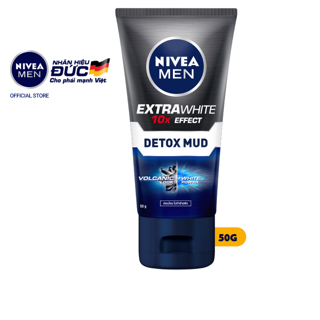 Sữa rửa mặt NIVEA MEN Detox Mud bùn khoáng giúp sáng da mờ thâm mụn (50g) – 81779
