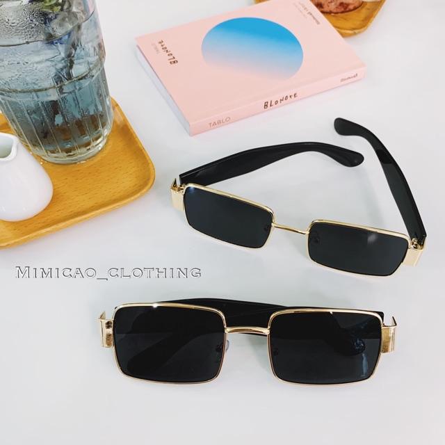 Mắt kính Vintage style có hộp bảo vệ kính (ảnh thật của shop)